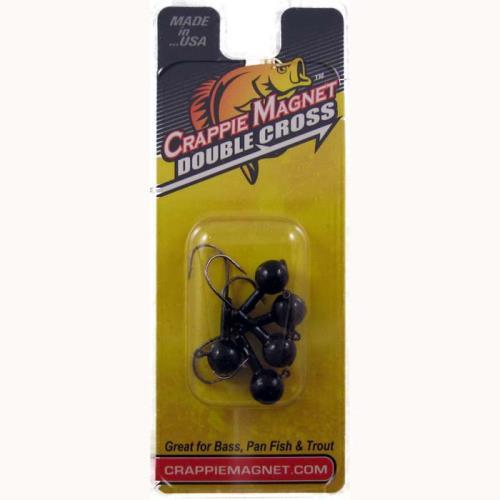 Crappie Magnet Double Cross Heads 5ct 1-8oz Black DWO