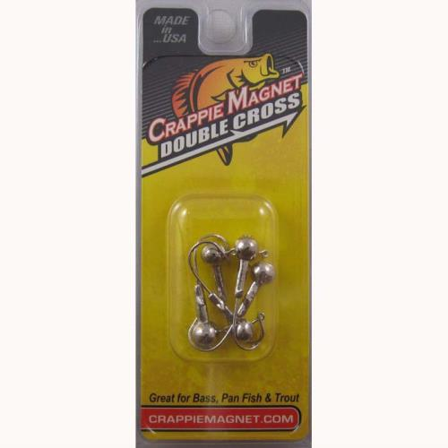 Crappie Magnet Double Cross Heads 5ct 1-8oz Nickle