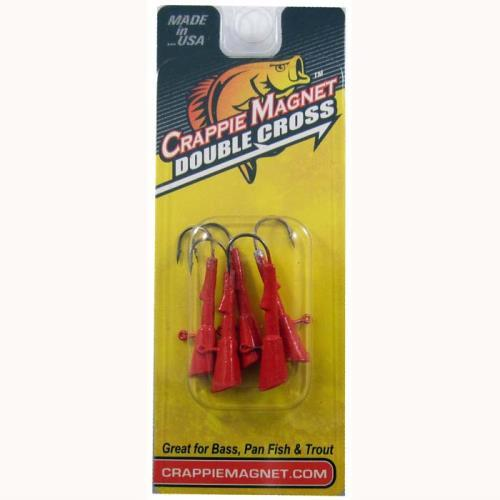 Leland Crappie Magnet Replacement Heads 5ct 1-8oz Red DWO