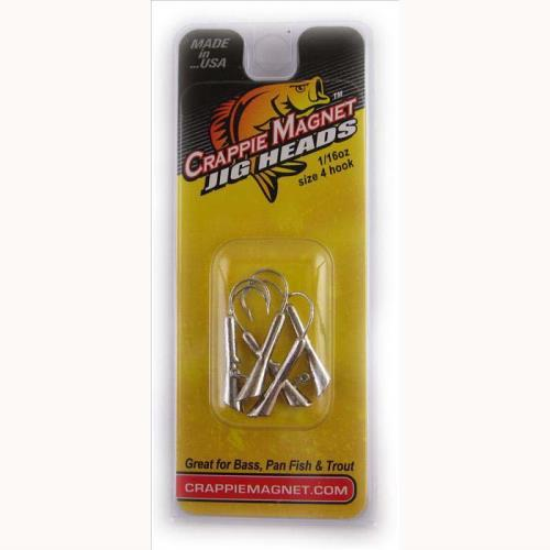 Leland Crappie Magnet Replacement Heads 5ct 1-32oz Silver DWO