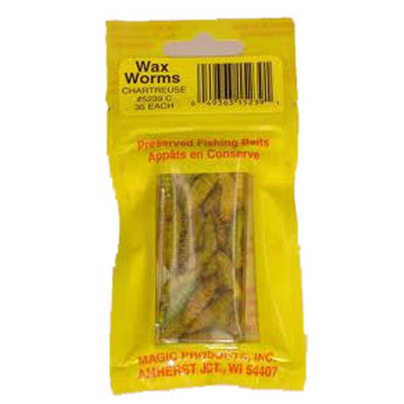 Magic Products Wax Worms-Chartreuse-Pouch
