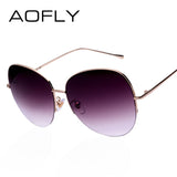 AOFLY Women's Oversize Semi-Rimless Sunglasses