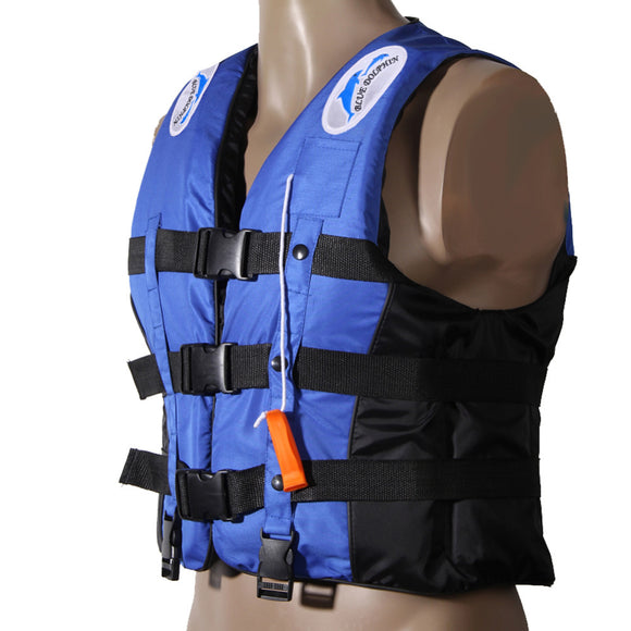 Polyester Adult Life Jacket  With Whistle