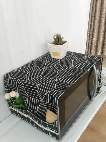 Geometric Pattern Wave Oven Cover