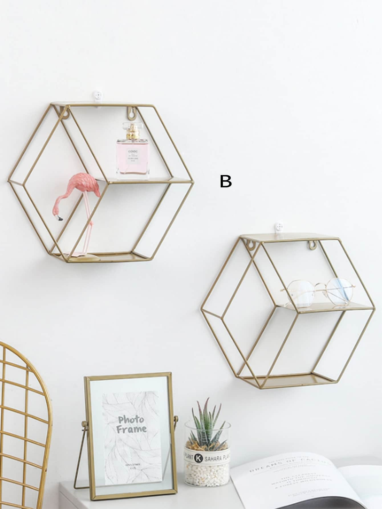 Hexagon Shaped  Rack