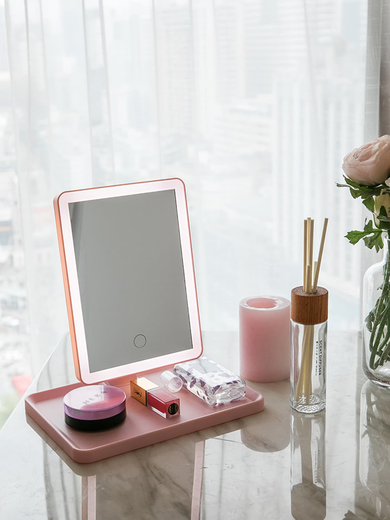 3 In 1 Desktop Makeup Mirror Light