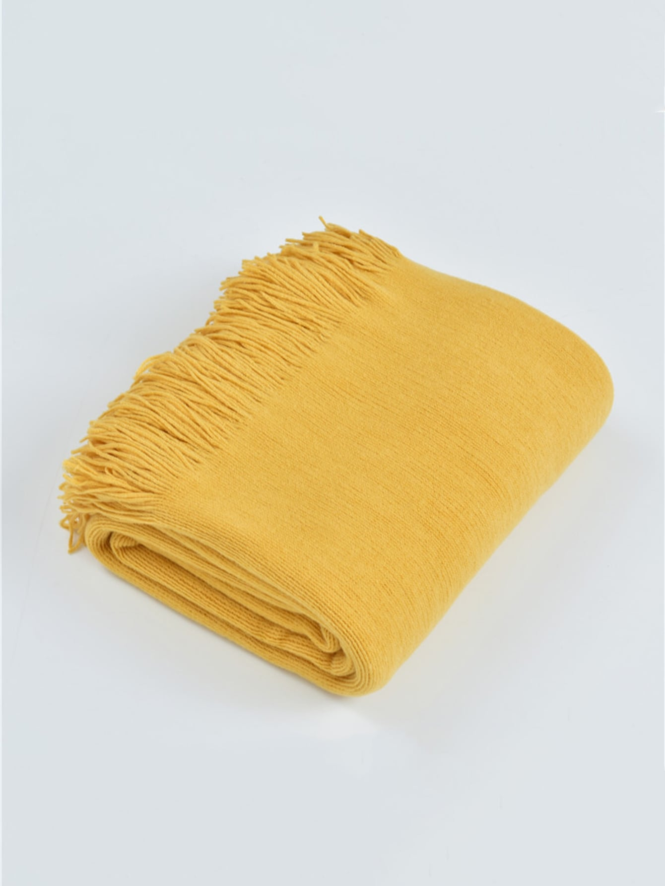 Plain Strip Knitted Blanket