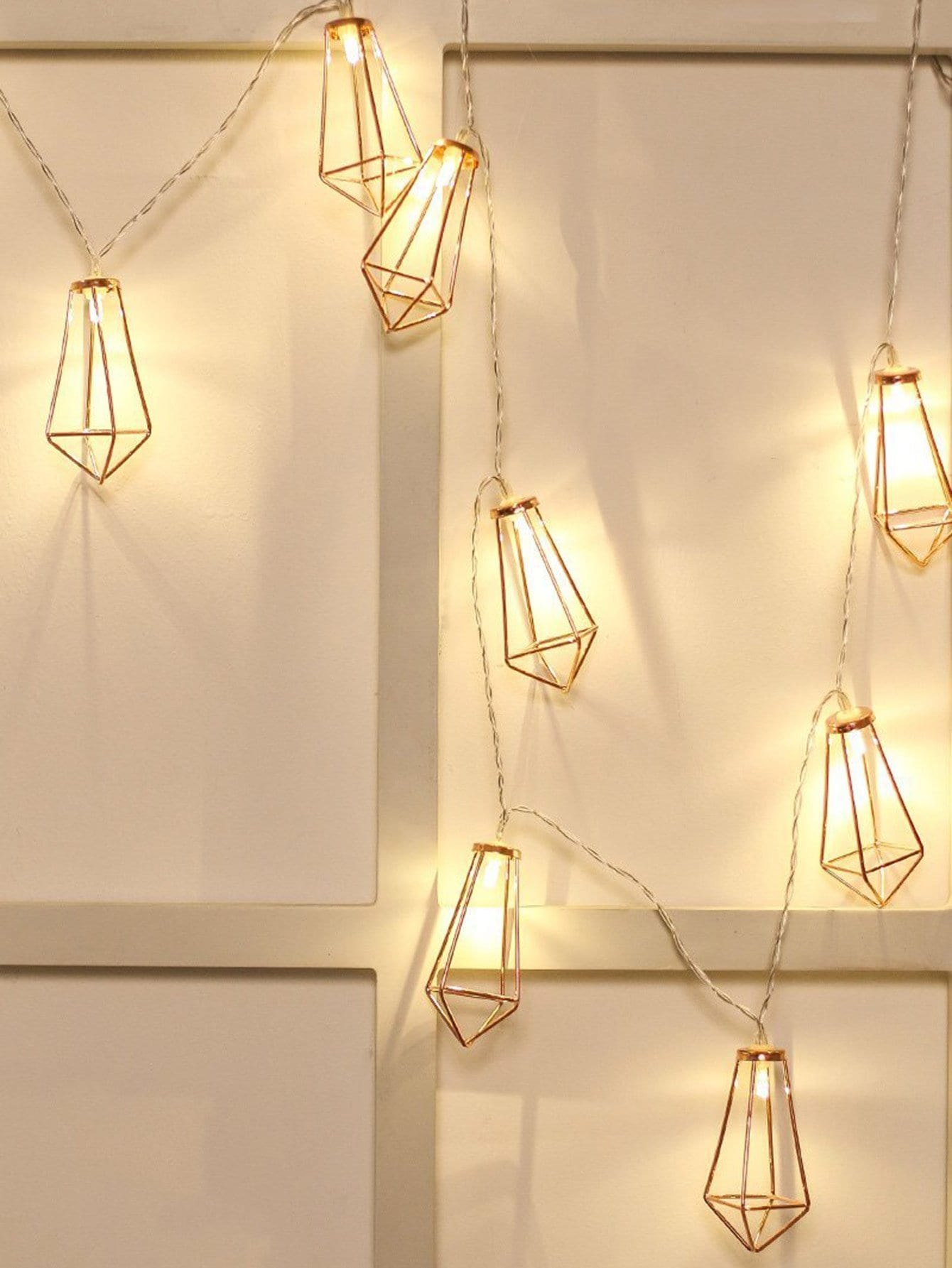 Geometric Lampshade 10pcs String Light