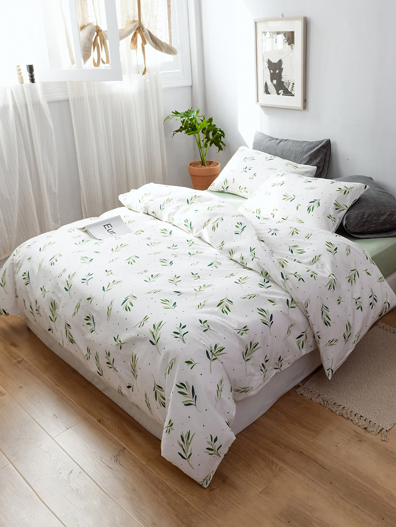 Leaf Overlay Print Sheet Set