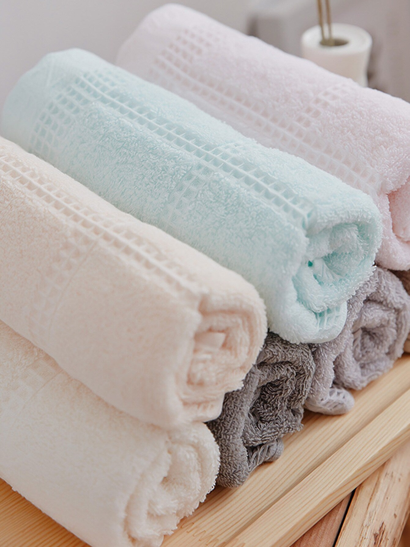 Random Color Solid Towel 1pc