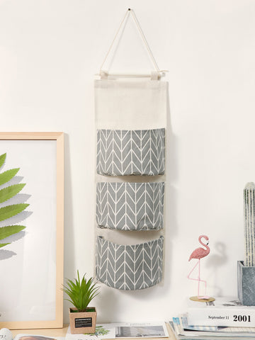 Geometric Pattern Hanging Storage Bag