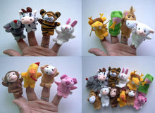 12pcs Animal Finger Puppet Plush