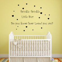Twinkle Twinkle little Star Removable Mural Wall Decal