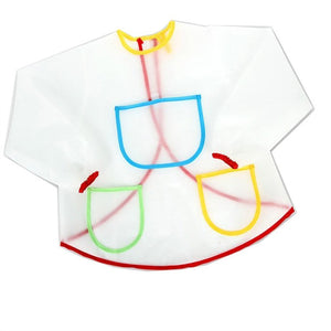 Waterproof Long-sleeved Kids Smock Apron for Painting