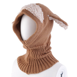 Baby Girl Boy Unisex Warm Dog Knitted Cap