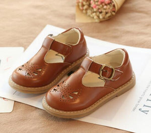 Toddler Girls Summer Hollow Leather Shoes