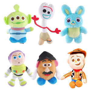 NEW Disney Pixar Toy Story 4 Plush Forky Woody Bunny Alien Buzz Lightyear Potato Head