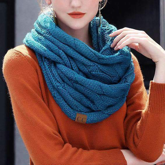 Cable Knit Infinity Scarf Selffix