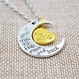 """I love you to the moon and back"" Necklace Selffix"