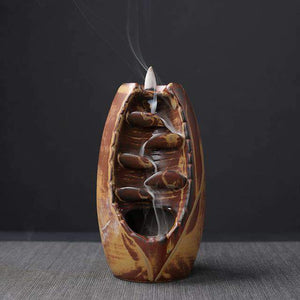 Mountain River Handicraft Incense Holder Selffix As picture 2