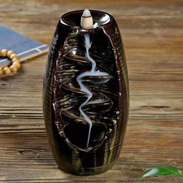 Mountain River Handicraft Incense Holder Selffix As picture 4