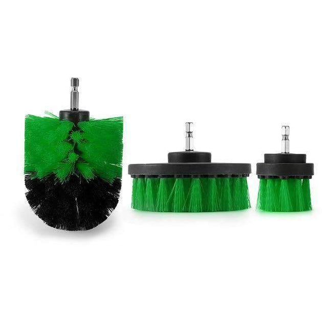 Power Scrubber Drill Brush Kit Selffix Army Green
