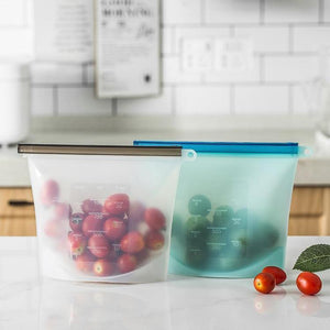 Reusable Food Storage Bags (FDA Approved Silicone) 200003576 selffix.io