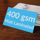 Quality Business Cards - Matt Laminted