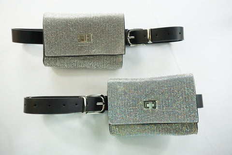 rhinestone crystal belt bag