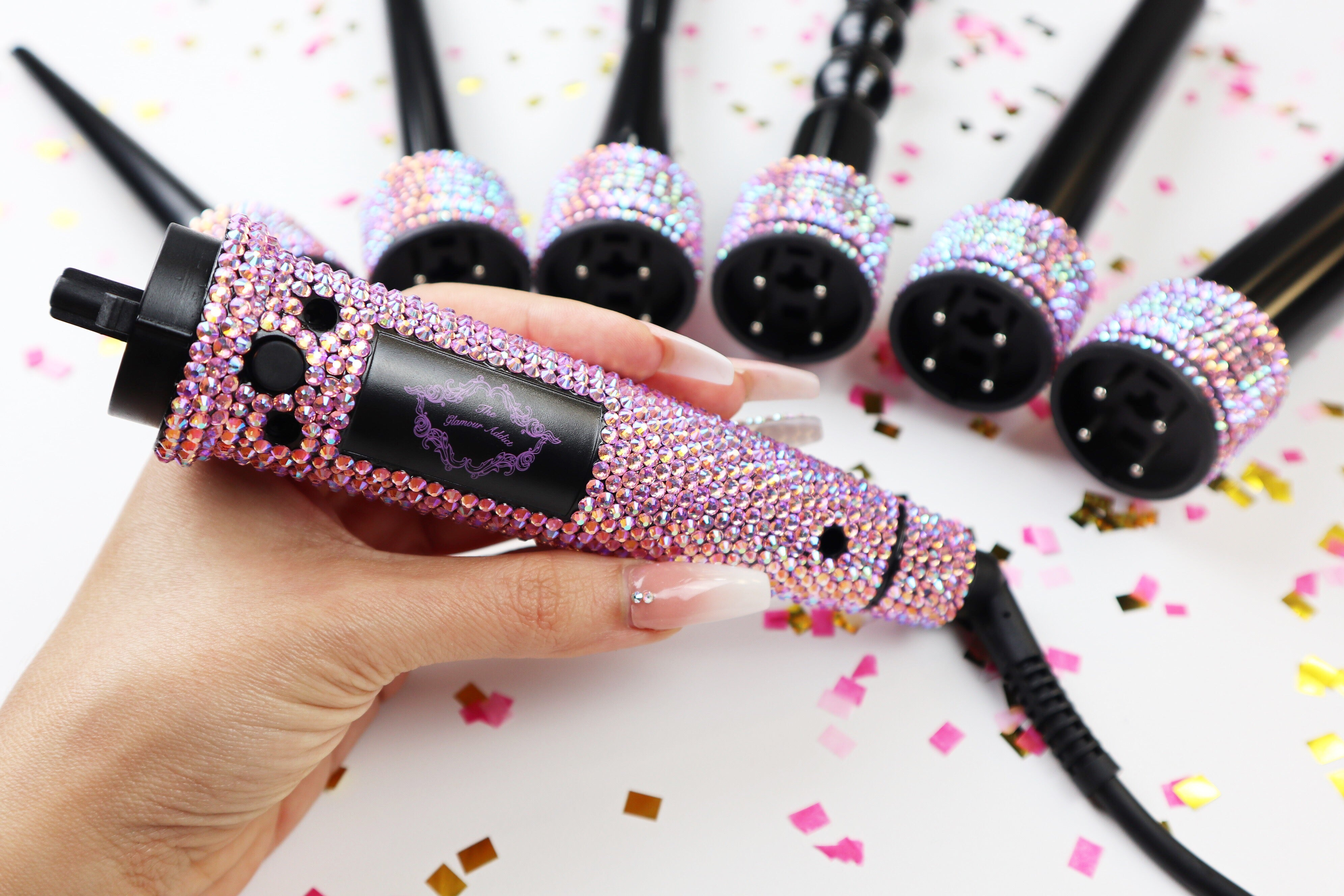 Crystallized 6 in 1 Ceramic Curling Wand