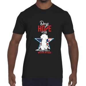 Men's Fitted Short-Sleeve Crew- 2 to 5 days FREE Shipping - DogsHOPE4Vets