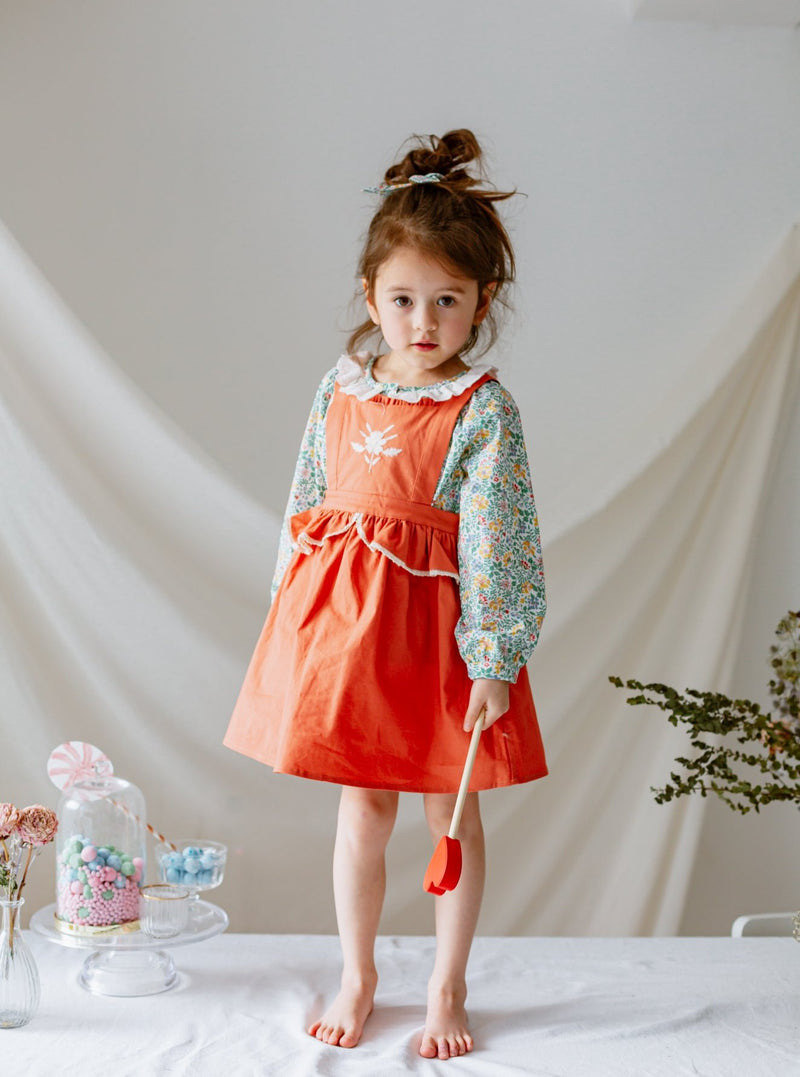 Amberley Pinafore Dress, Grapefruit