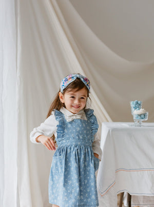 Kingston Dungaree Dress, Denim Rosa