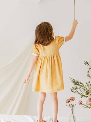 St Ives Dress, Cream Yellow
