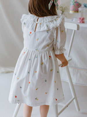 Ashby Dress, Embroidered Florals