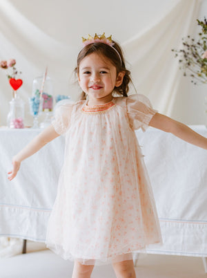 Newham Smocking Dress, Twinkling Rosa