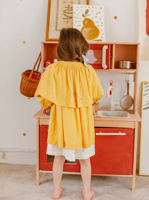 Windsor Cape Coat, Lemon