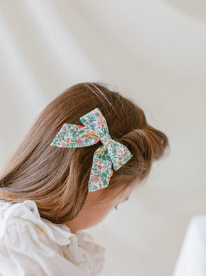 Perrie Hair Bow Clip Set of 2, Cotswolds Vines