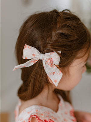 Perrie Hair Bow Clip Set of 2, Twinkling Rosa