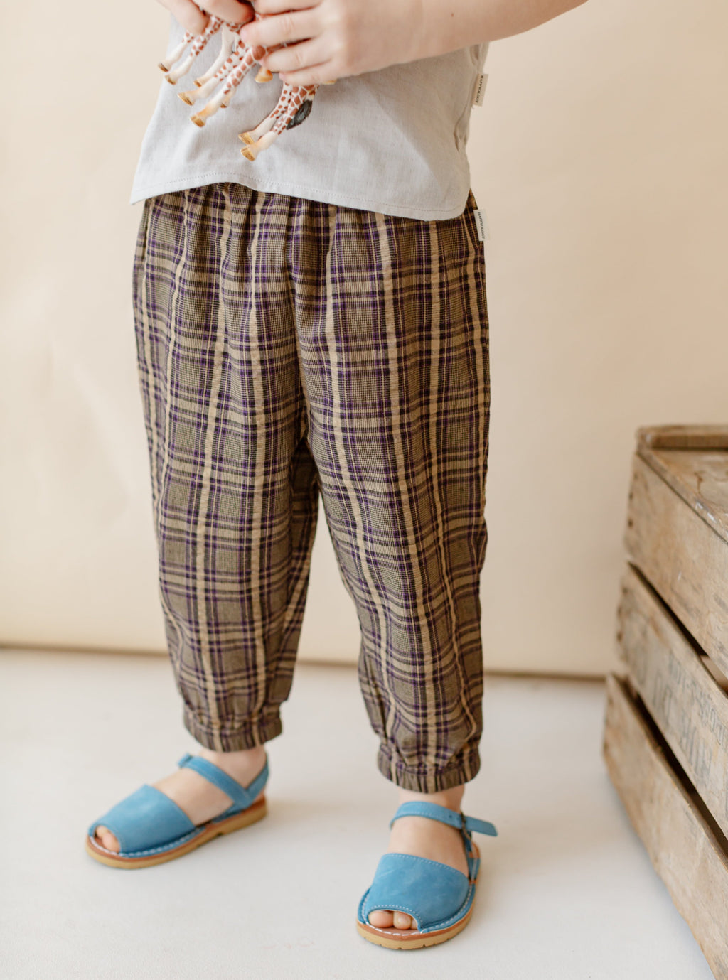 Hempden Trousers, Purple Check
