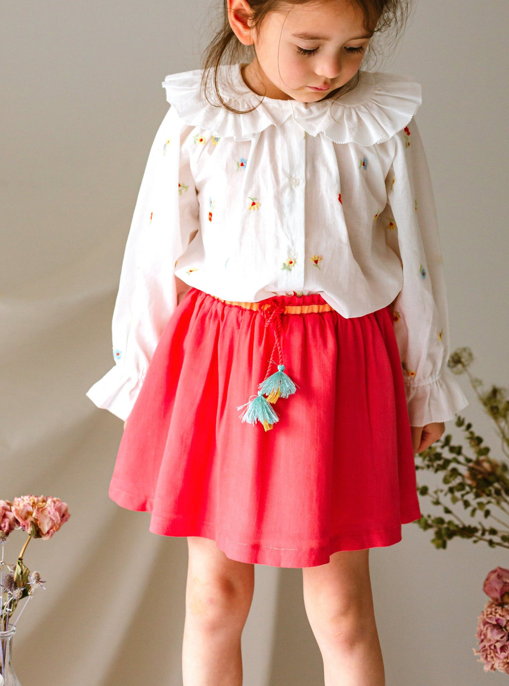 Beverley Skirt, Strawberry