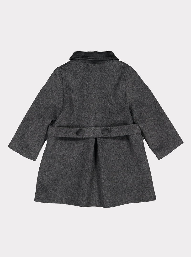 Darlington Wool Coat, Royal Grey