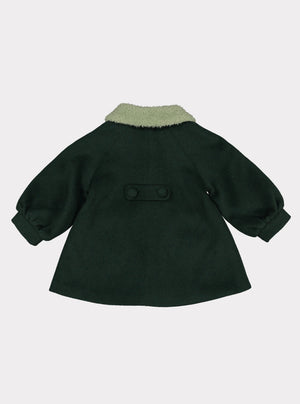 Larina Wool Coat, Jade Green