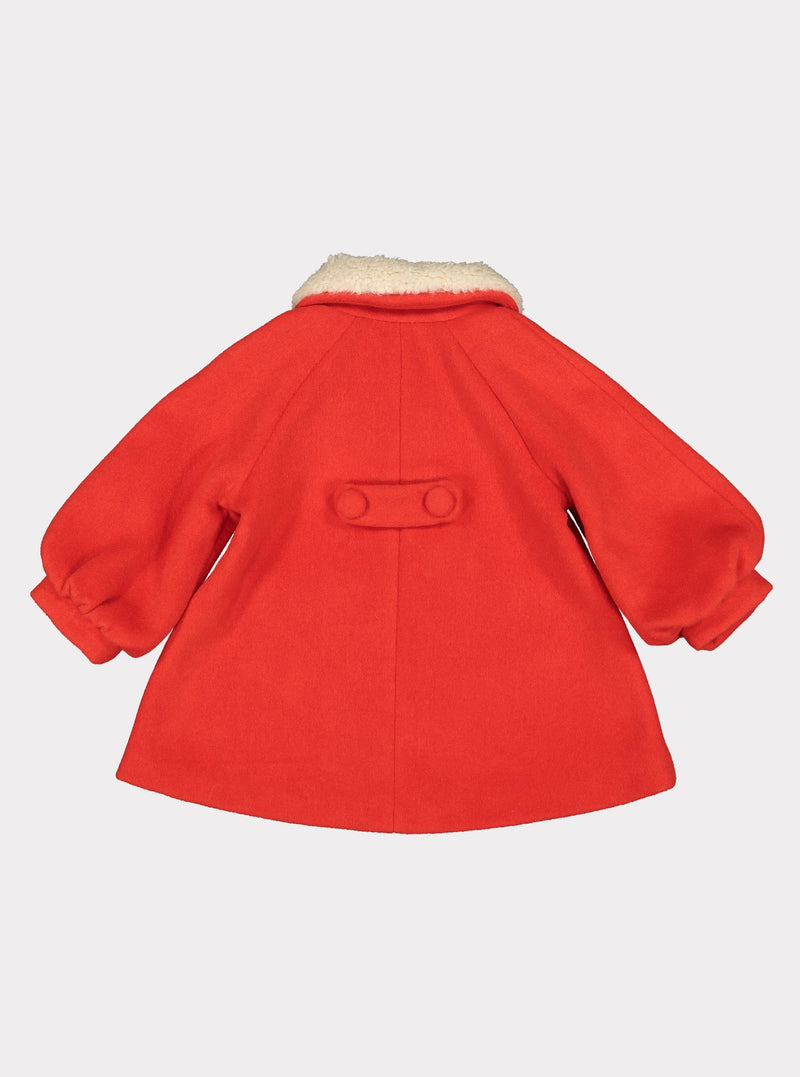 Larina Wool Coat, Sunrise Orange