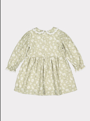 Malvern Dress, Antique Green Floral