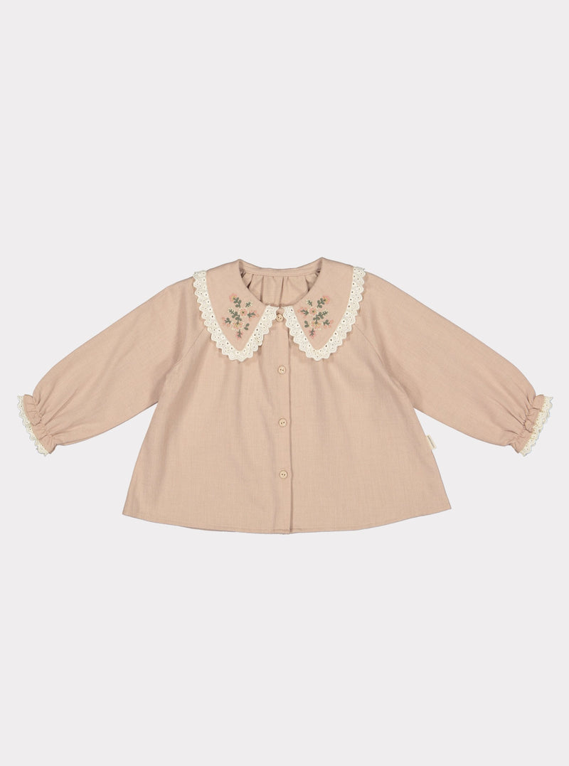 Mealla Blouse, Almond Pink