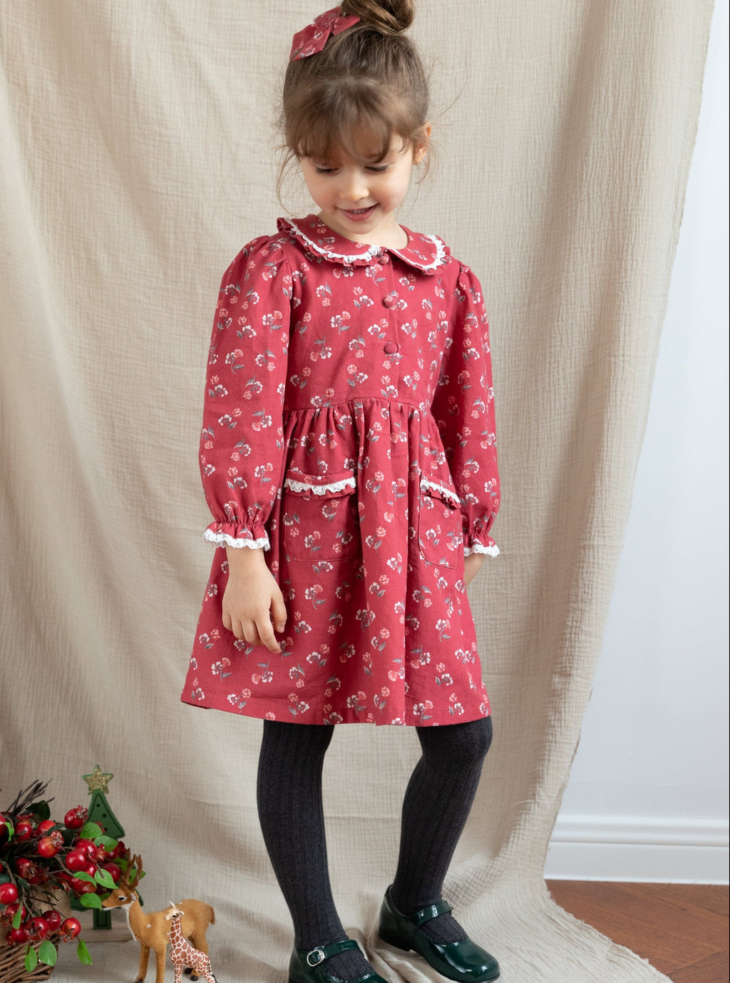 Meridian Dress, Vintage Camellia