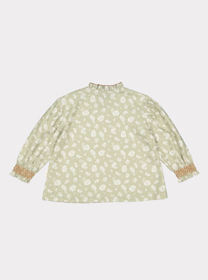 Millie Blouse, Antique Green Floral