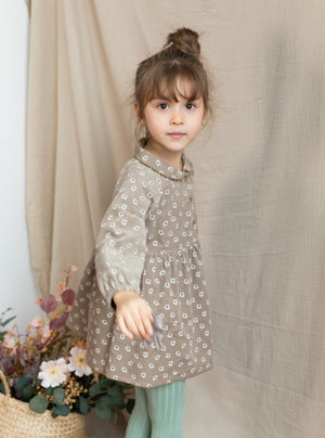 Mountfield Dress, Khaki Daisy