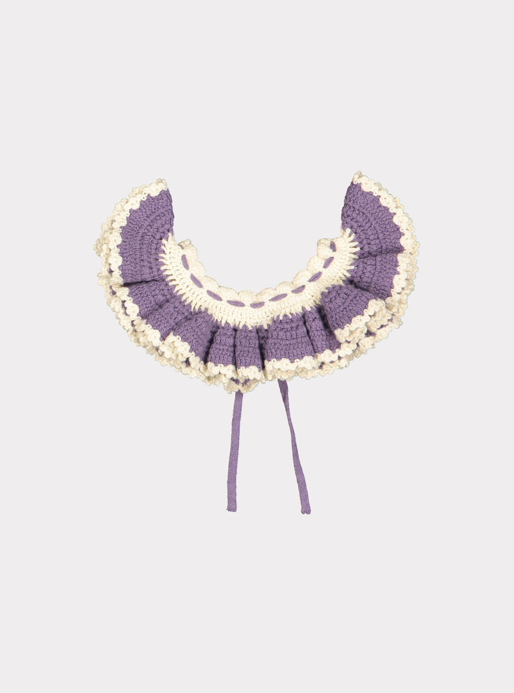 Riverdale Knitted Collar, Purple Twilight